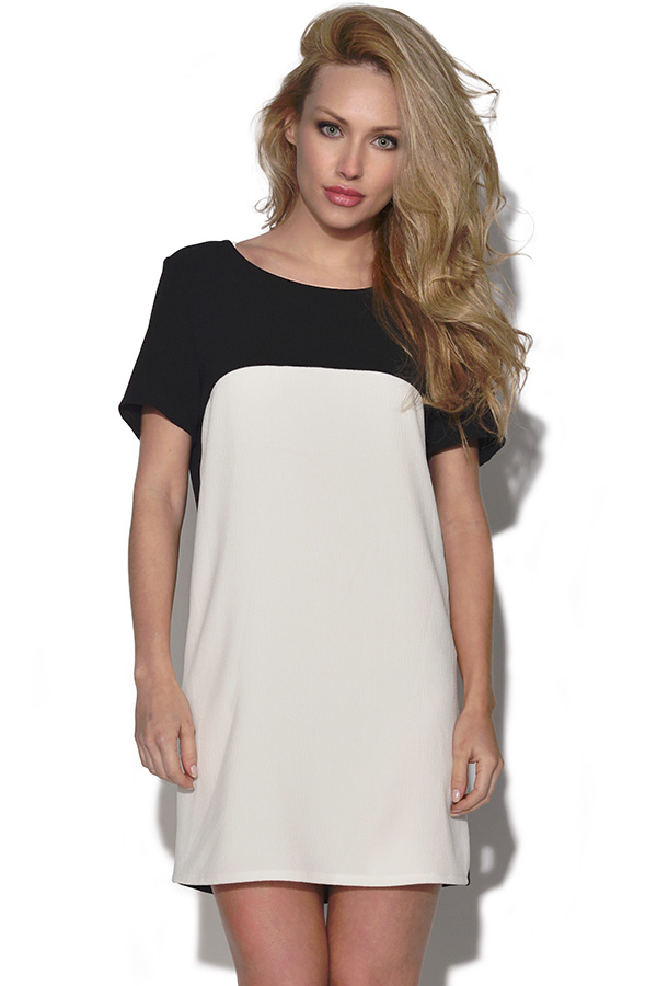 Monochrome Shift Dress
