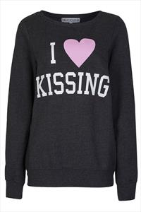 Delicious London I Love Kissing Sweater