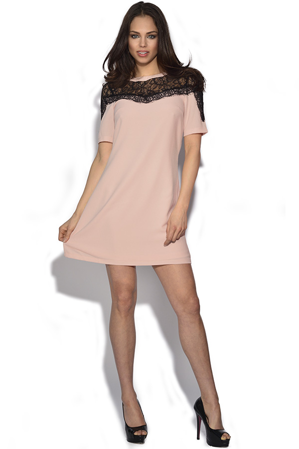 Paper Dolls Lace Panel Shift Dress