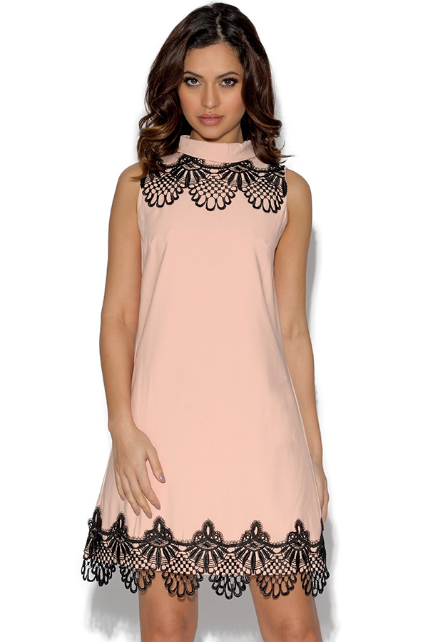 Paper Dolls Lace Frill Shift Dress