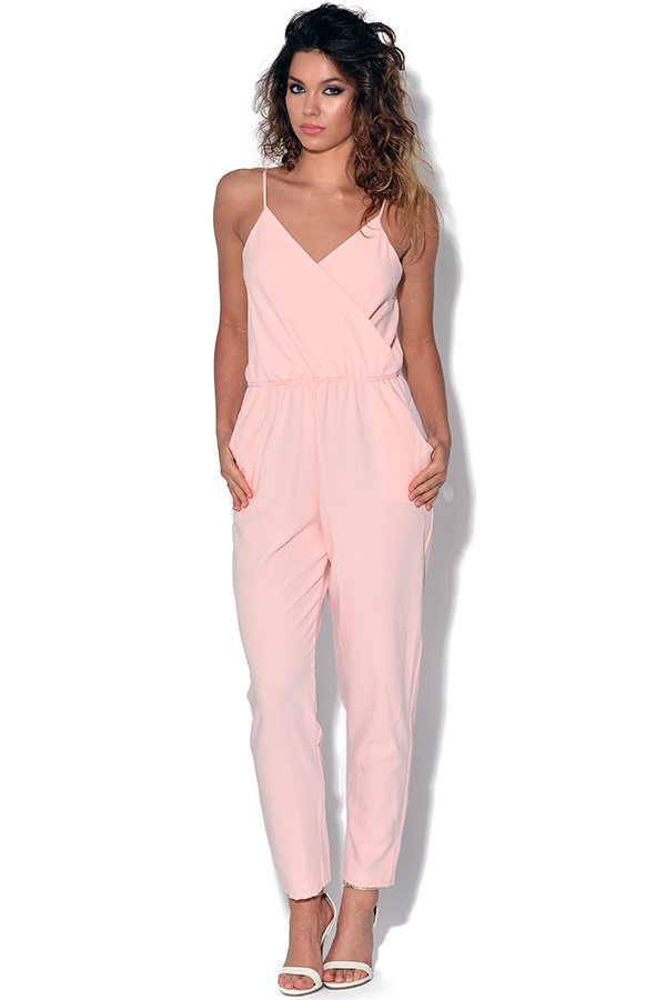 Strappy Pink Jumpsuit