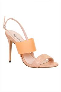 Paper Dolls Snakeskin Sling Back Sandals