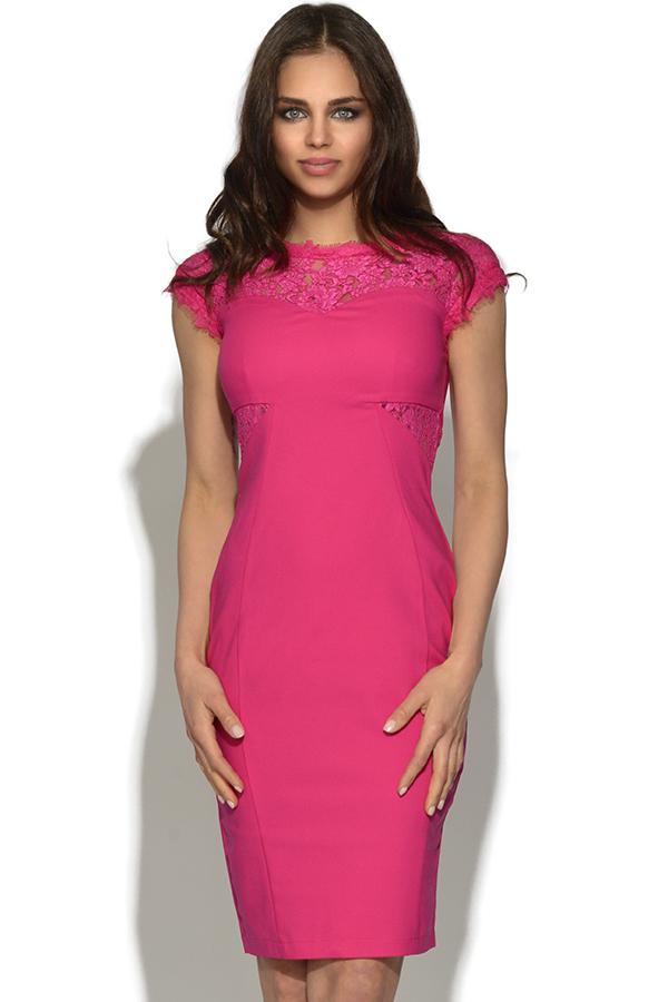 Lace Pink Bodycon Dress