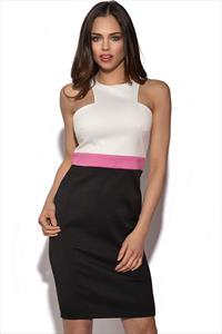 Paper Dolls Colour Block Cut Out Dress