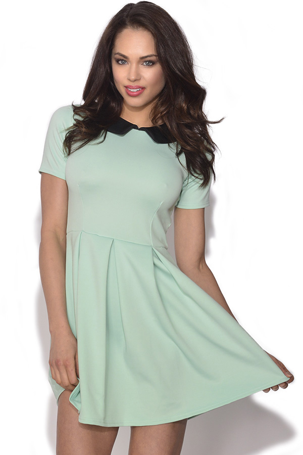 Peter Pan Collar Skater Dress