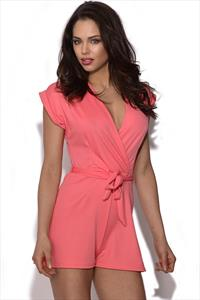 Crossover Crepe Playsuit