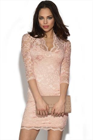 Pale Pink Lace Kate Dress