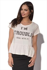 Delicious London I'm Trouble Peplum Crop
