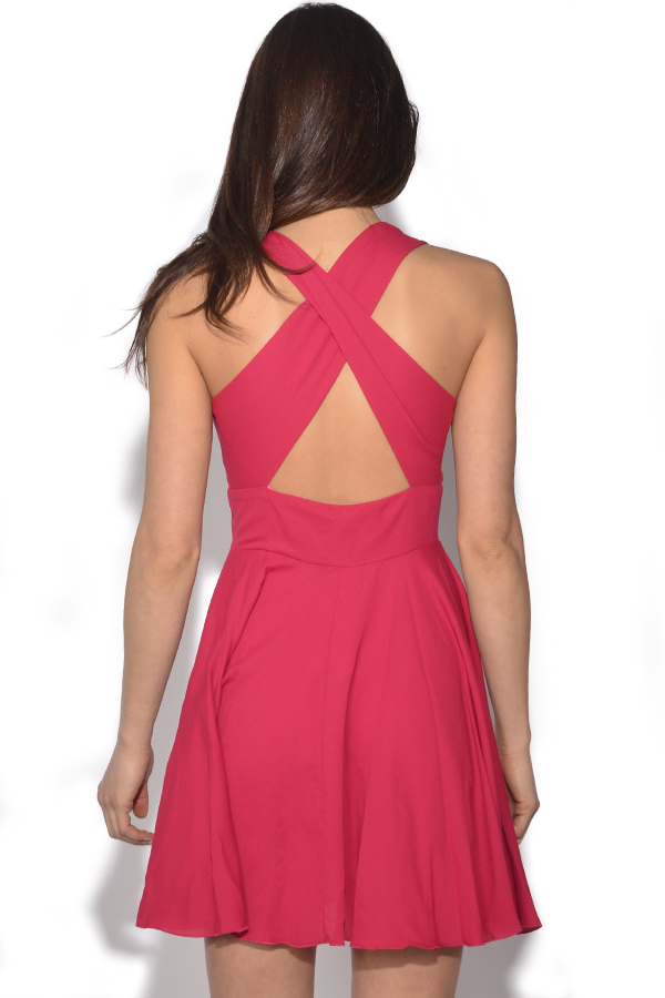 Cross Back Skater Dress