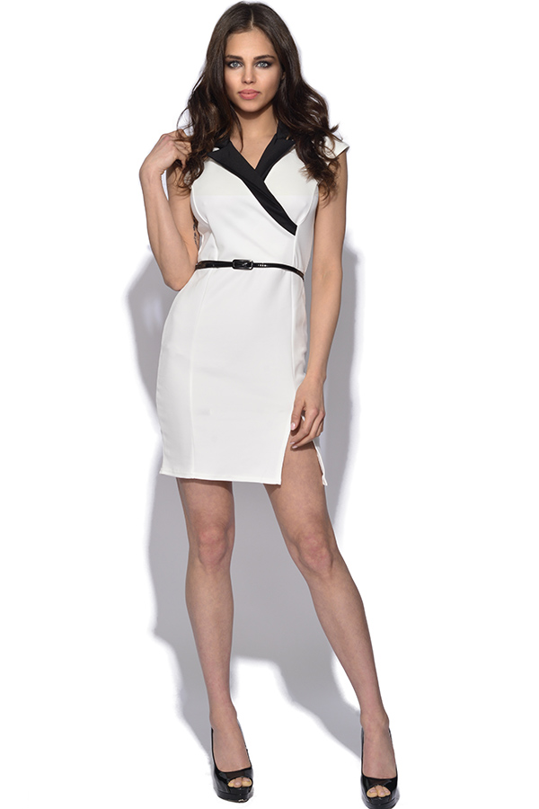 Collared Cross Over Bodycon dress