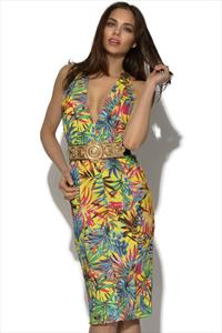 RARE Tropical Print Halterneck Dress