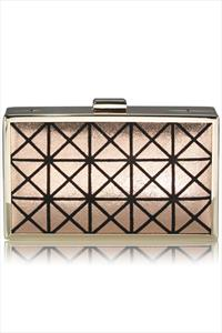 Graphic Print Box Clutch Bag