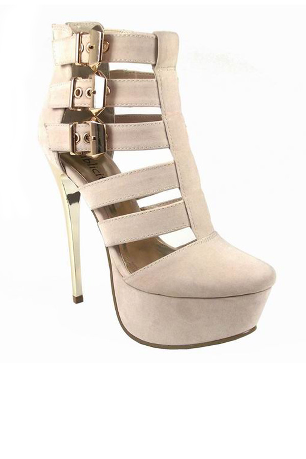 Scandal Caged Platform Sandals
