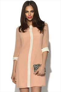 Little Mistress Contrast Peach Tunic