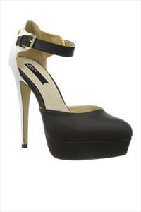 Contrast Closed Toe Platform Sandals