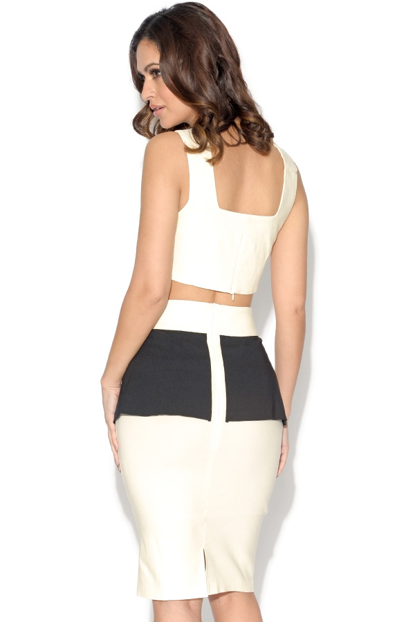 Vesper Crop Top and Peplum Skirt