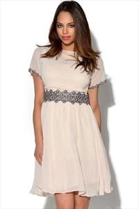 Little Mistress Floral Embroidered Skater Dress