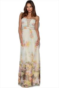 Little Mistress Floral Embellished Maxi Dress