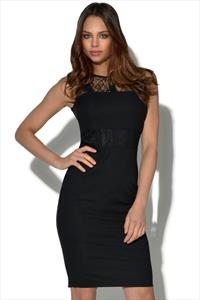 Paper Dolls Black Lace Panel Cut Out Dress