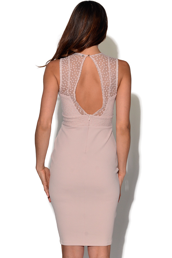 TFNC Spot Mesh Bodycon Dress