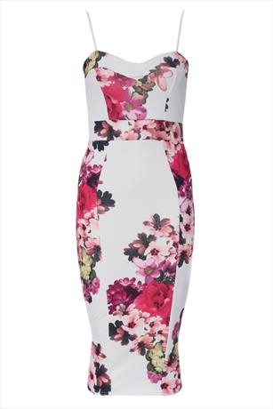 Totally Tropical Floral Bodycon Dress