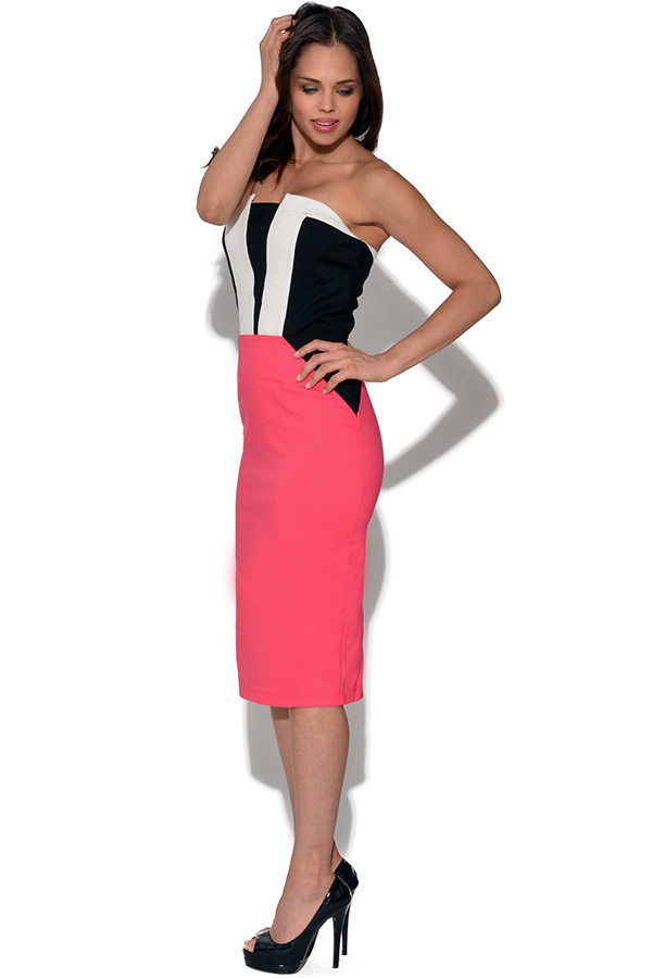 Paper Dolls Contrast Bandeau Dress