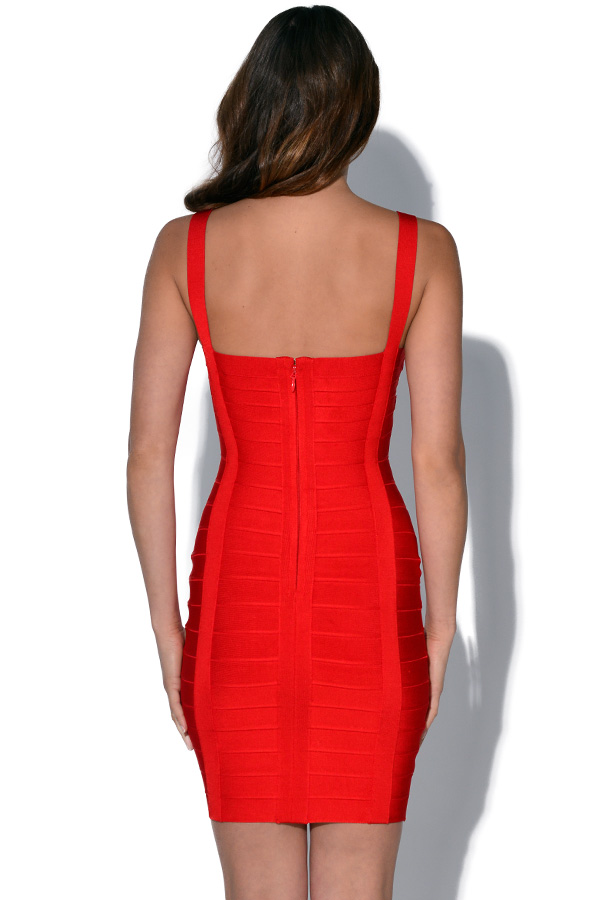 Luxe Red Bodyform Bandage Dress