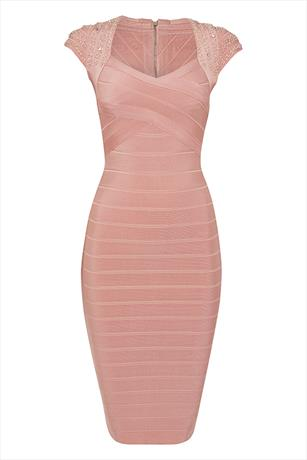 Luxe Embellished Bandage Dress