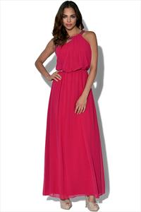 Little Mistress One Shoulder Drape Maxi Dress