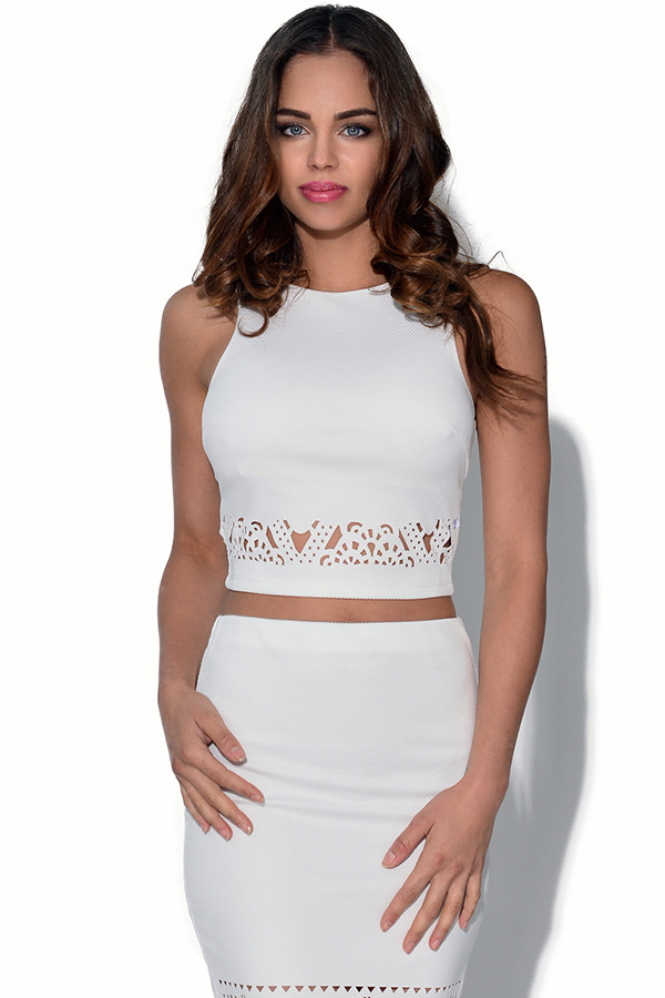 Ginger Fizz White Laser Cut Top