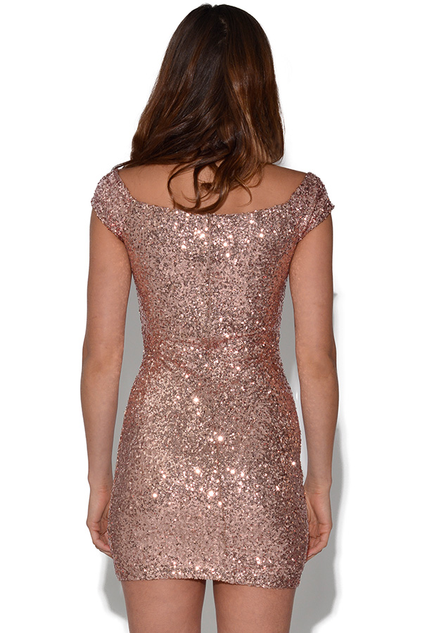 RARE Off The Shoulder Sequin Dress