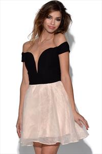 RARE Off Shoulder Chiffon Skirt Dress