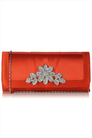 Crystal Flower Clutch Bag