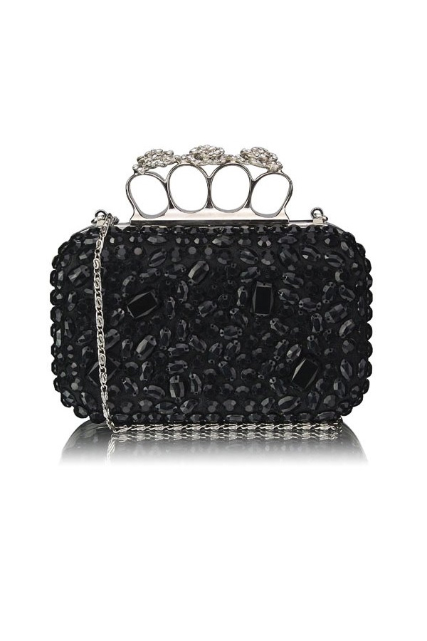 Embellished Knuckle Crystal Clutch Bag