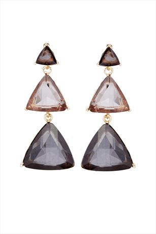 Paper Dolls Triangle Drop Tier Earrings