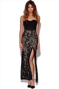 Bandeau Lace Maxi Dress