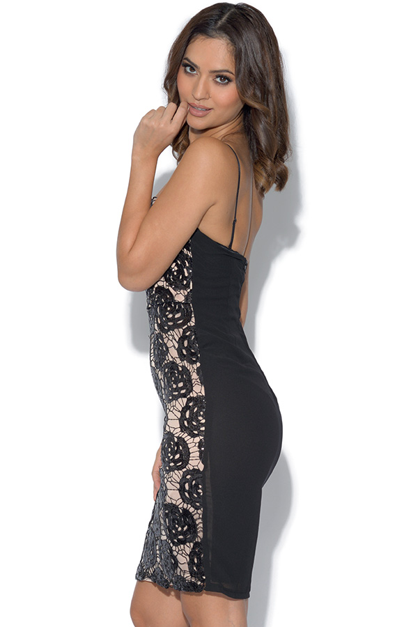 Rose Sequin Bodycon Dress