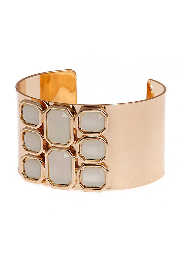 White Jewelled Cuff Bracelet