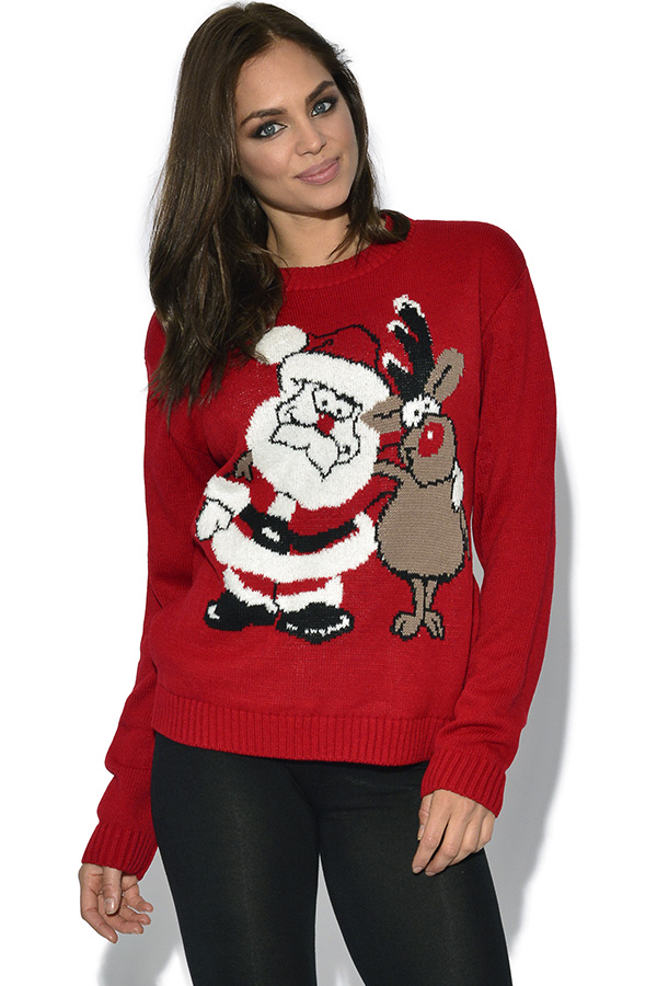 Christmas Santa and Rudolph Jumper
