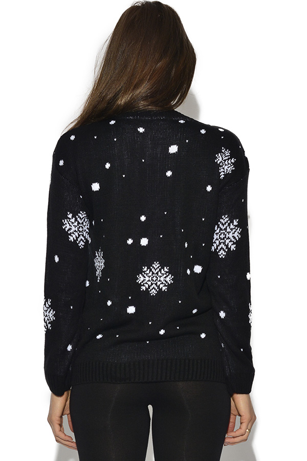 Christmas Skiing Snowman Jumper