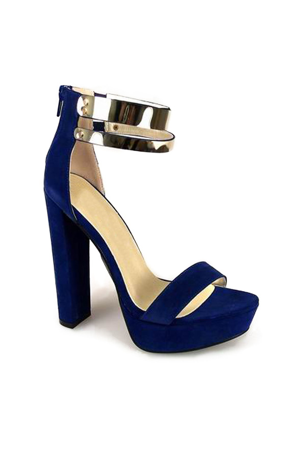 Metallic Platform Strappy Sandals