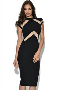 TFNC Kalyn Bodycon Mesh Dress