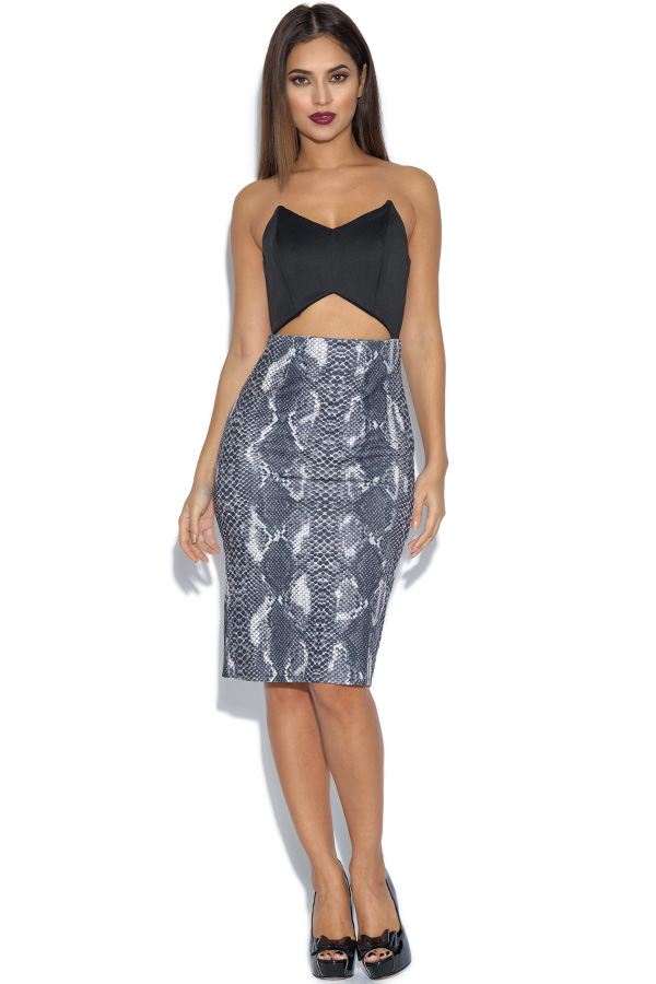 RARE Snakeskin Cut Out Dress