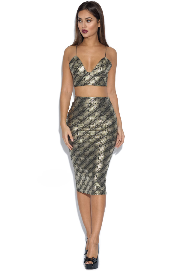 RARE Metallic Dogtooth Co-Ord set