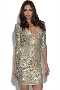 Paris V Neck Sequin Dress