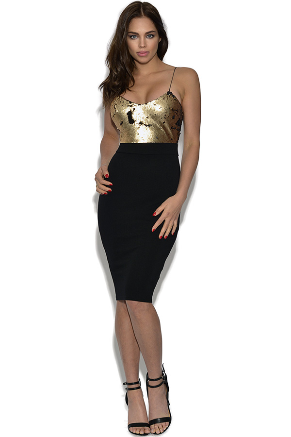AX Paris Contrast Sequin Bodycon Dress