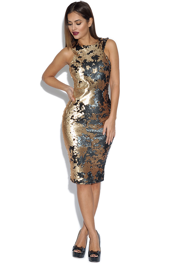 AX Paris Two Colour Way Sequin Dress