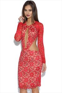 Holt Alina Red Lace Dress