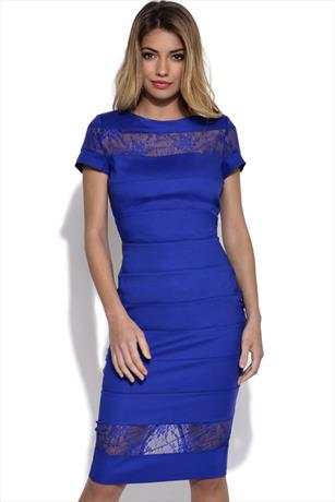 Paper Dolls Lace Insert Bodycon Dress