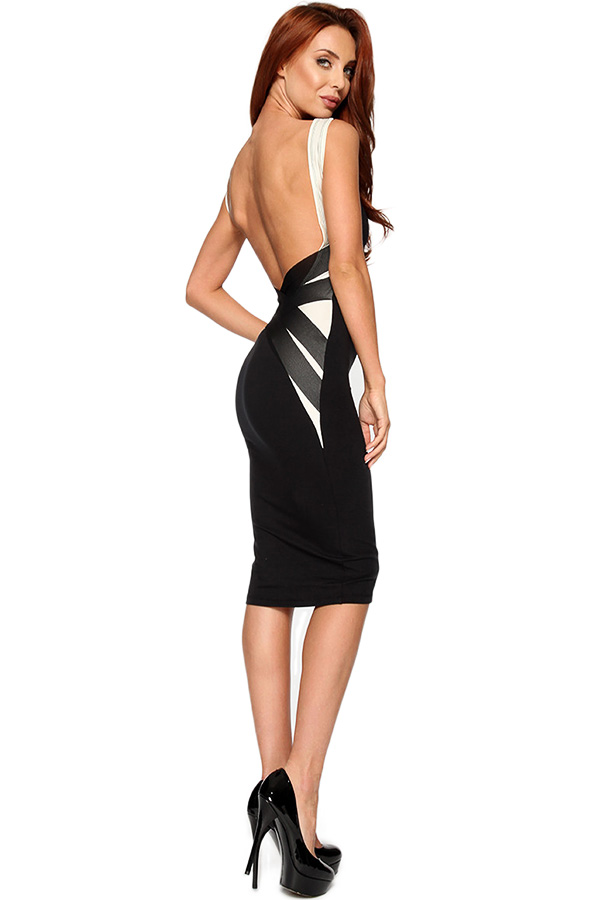 Quontum Barely There Backless Midi Dress